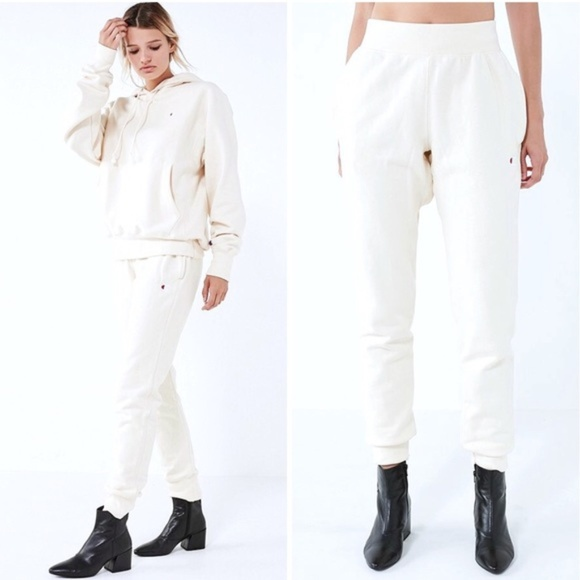 44f68293 Champion Pants   X Uo Reverse Weave Off White Jogger   Poshmark